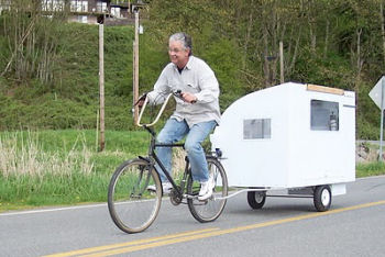 Image Bicycle Camper, highmileagetrikes.blogspot.com