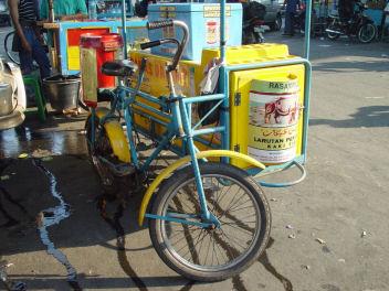 自転車ミルクスタンド