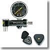 ポンプ用ゲージにもなるタイヤやサス用空気圧計