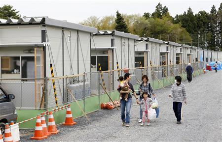 岩手県陸前高田市に建設された仮設住宅