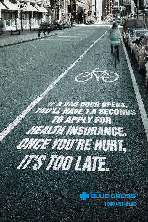 Pacific Blue Cross Health Insurance: Bike Path, adsoftheworld.com
