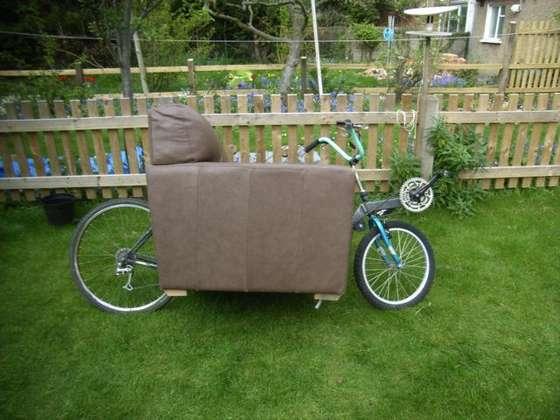 ソファ自転車