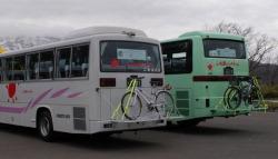 バスに自転車