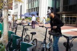 都心移動に共用自転車