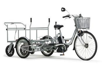 リヤカー付き業務用電動アシスト自転車