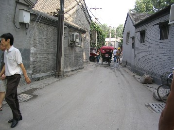 道幅は狭い