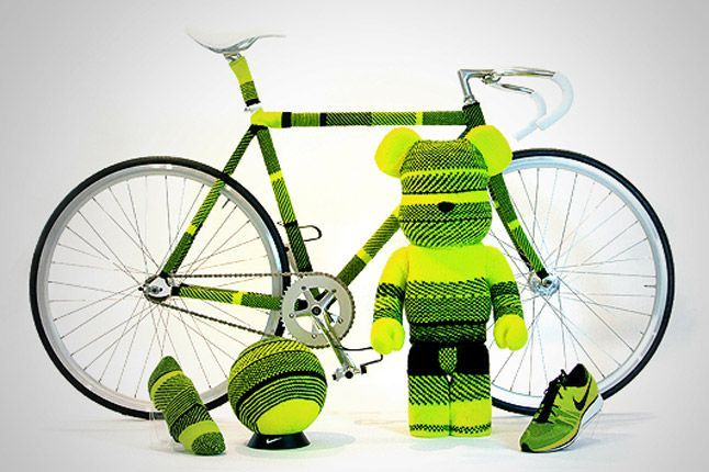 Flyknit covered bicycle