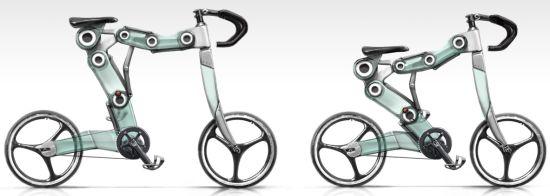 サイズが変えられる自転車