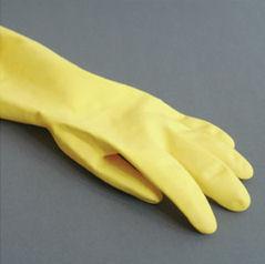 ゴム手袋を