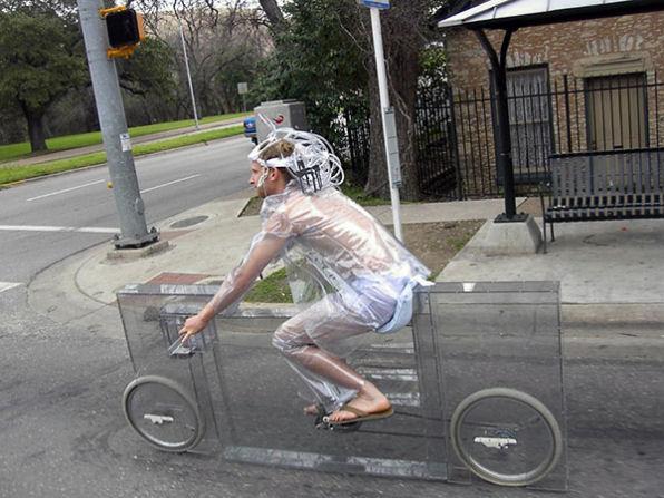 透明自転車