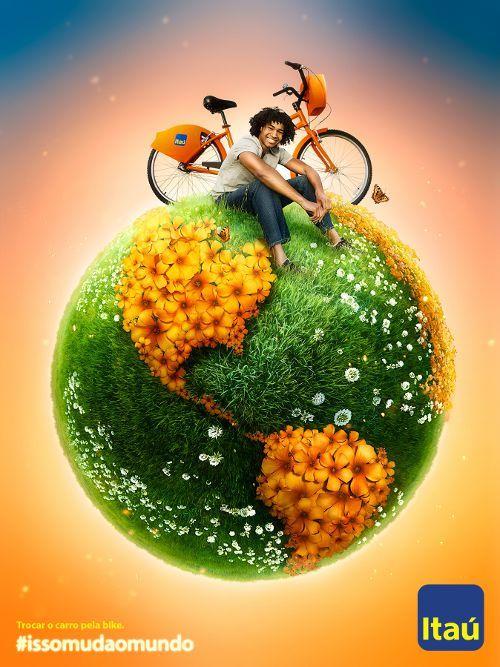Banco Itau: Swap the car for a bike, adsoftheworld.com