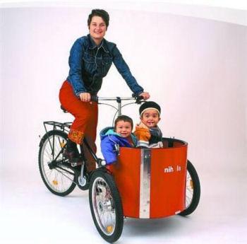 デンマーク・ニポラ社製の子供乗せ自転車