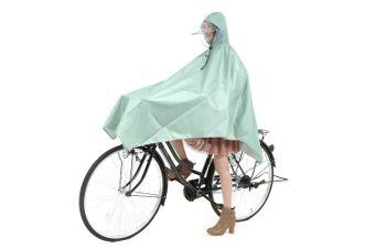 自転車用レインポンチョ