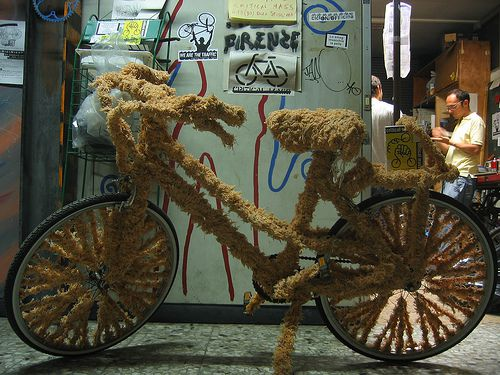 Peluche bike, Photo by m.aquila,licensed under the Creative Commons Attribution ShareAlike 3.0 Unported.