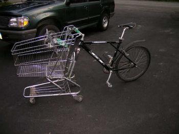 ショッピングカート自転車