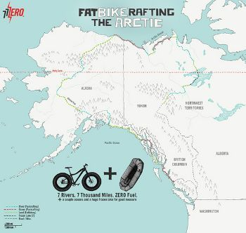 Fatbikerafting the Arctic