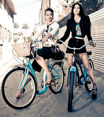 Cycle Chic features Electra Collections on Long Beach runway fashion show