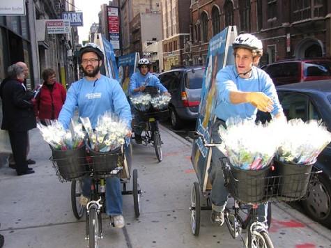 ニューヨークの自転車広告