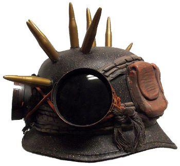 Steampunk Army Biker Helmet Hat VI, www.etsy.com