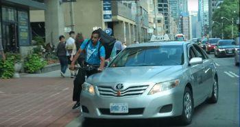 taxi hitting cyclist