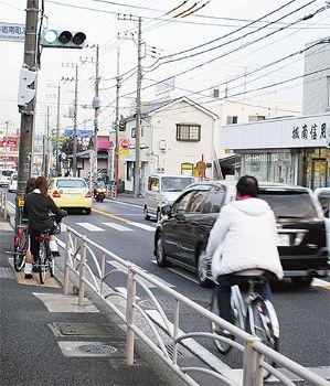 「自転車は車道」に課題