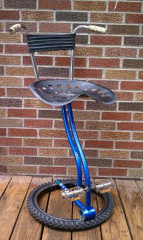 Recycled Bike Frame Bar Stool with Backrest, www.etsy.com