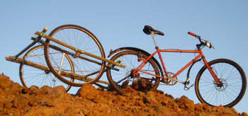 竹製自転車トレイラー