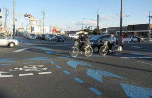 自転車走行帯標示