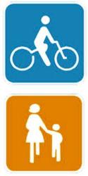 自転車マナー向上へ独自標示