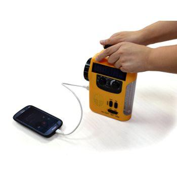 手動充電可能ラジオライト