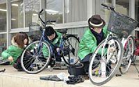 放置自転車を再生