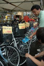 自転車の盗難急増