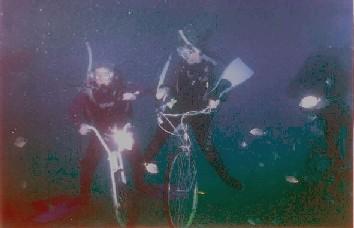 海中自転車レース