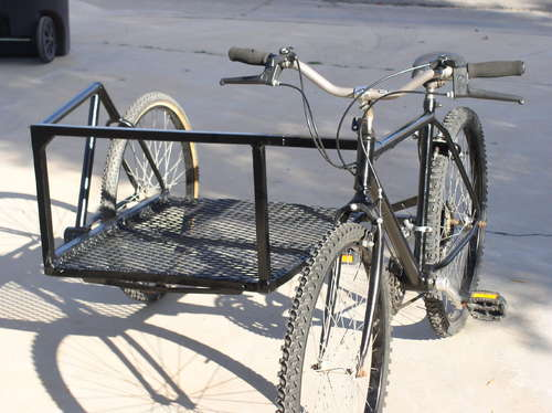 自転車パーツを利用してサイドカー