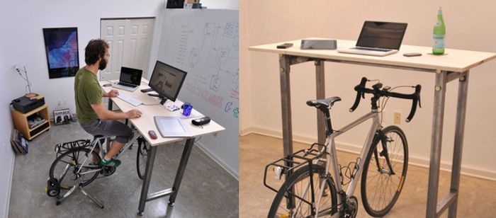 Functional Bike Desk