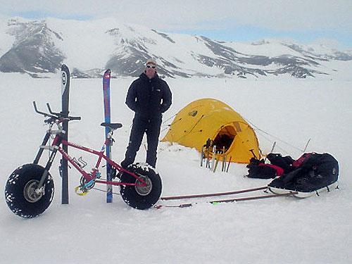 南極用氷上自転車
