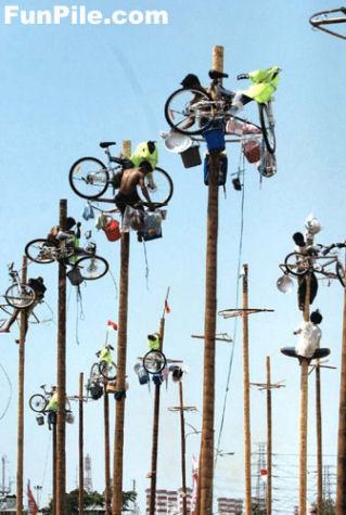 空中自転車