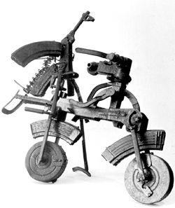 自転車で武器を回収