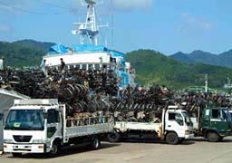 放置自転車の北朝鮮情勢