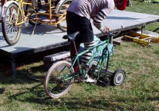 自転車芝刈機