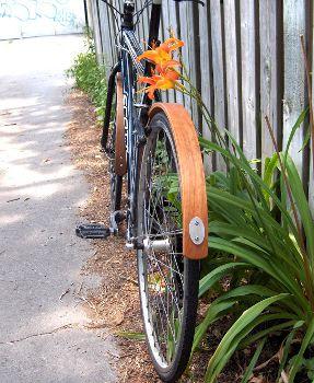 Wooden Bike Fender set, www.etsy.com