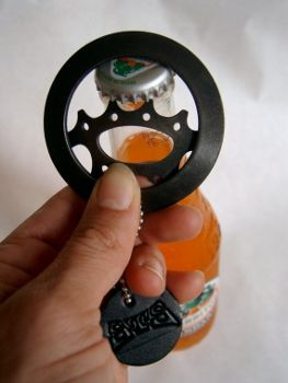 Recycled bike gear bottle opener, www.etsy.com