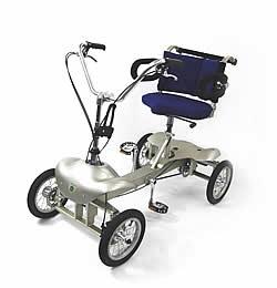足こぎ車いすのベースとなるカワムラサイクルの「スロー・サイクル」