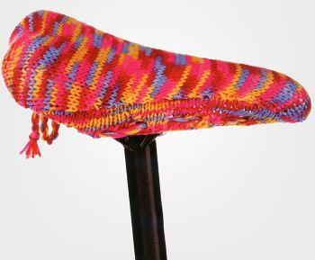 Bike Seat Cover Knitting Kit, www.geekalerts.com