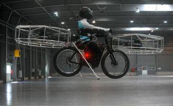 空飛ぶ自転車