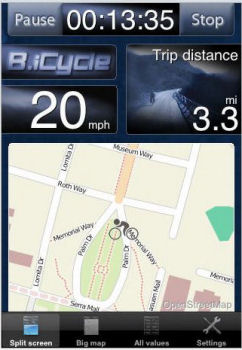 B.iCycle - GPS cycling computer