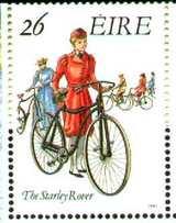 自転車図柄の切手