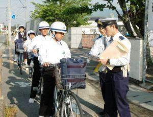 ヘルメットの着用