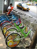 大気汚染対策にも自転車
