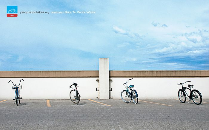 People for Bikes: Parking lot, adsoftheworld.com